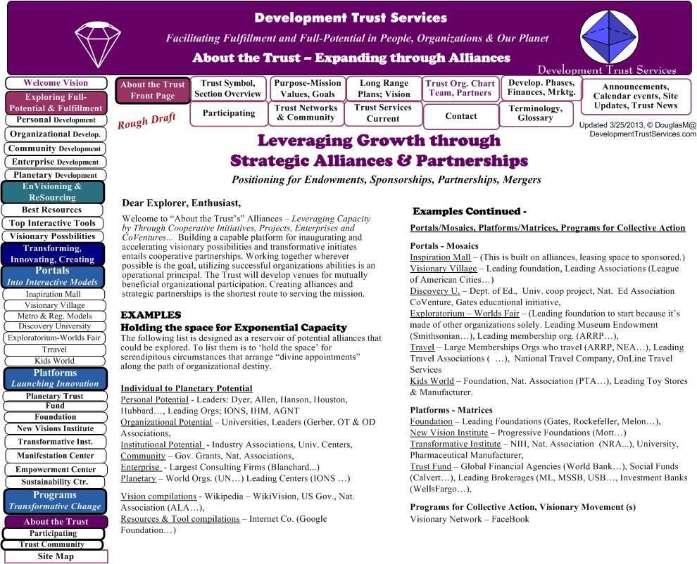 Alliances Strategic Partnerships Development Trust Services